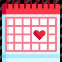 date, day, heart, love, schedule, wedding