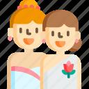 brides, celebration, girl, party, two
