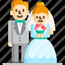 and, bride, groom, marriage, party, wedding