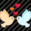 bird, doves, love, romance