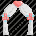 arch, love, marriage, romance, wedding icon