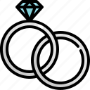 love, marriage, ring, romance, wedding icon