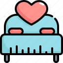 bed, love, marriage, romance, wedding icon