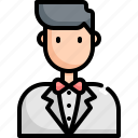avatar, groom, love, marriage, romance, wedding icon