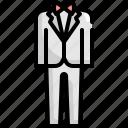 groom, love, marriage, romance, suit, wedding icon