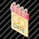 amour, anniversary, beautiful, date, isometric, logo, object