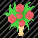 beautiful, beauty, blossom, bouquet, isometric, logo, object