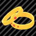 diamond, engagement, isometric, logo, object, ring, wedding