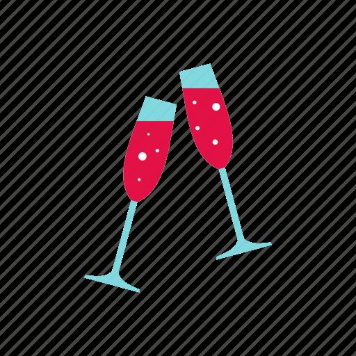 alcohol, celebrate, celebration, glasses, holiday, wedding, wine icon
