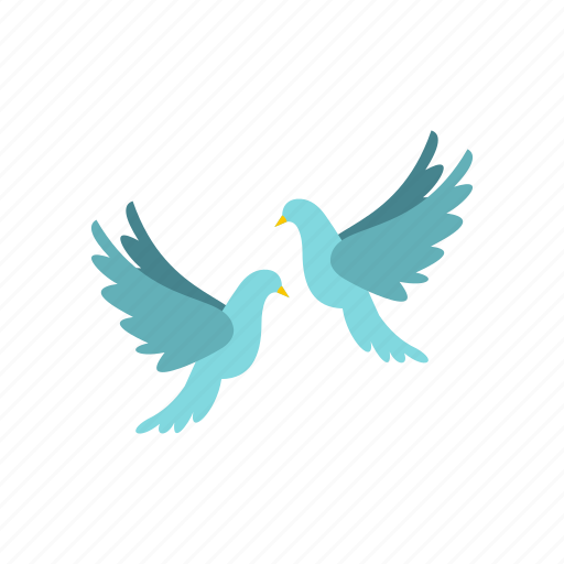 bird, couple, doves, love, marriage, wedding, wing icon