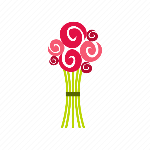 bouquet, brides, decoration, floral, gift, holiday, summer icon