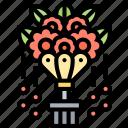 floral, bouquet, flowers, decoration, event