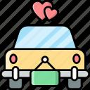 wedding, car, vehicle, transport