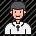 pastor, christian, father, wedding, cross