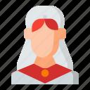 avatar, bride, girl, wedding, woman icon