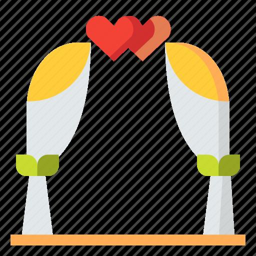 arch, love, romance, wedding icon