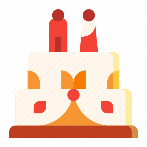 cake, dessert, sweet, wedding icon