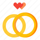 love, rings, wedding icon