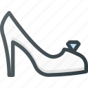 bride, celebration, love, shoe, wedding icon