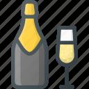 celebration, champagne, love, wedding icon
