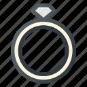 celebration, engagement, love, ring, wedding icon