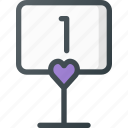 celebration, love, number, table, wedding icon