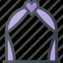 arch, celebration, love, wedding