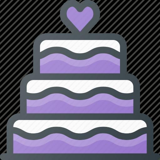 cake, celebration, love, wedding icon