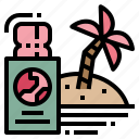 honeymoon, passport, ticket, travel icon