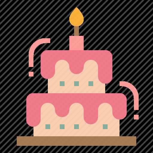 cake, dessert, party, wedding icon