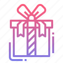 box, gift, ribbon, shopping icon