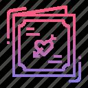 card, invitation, request, wedding icon