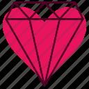 bell, diamond, favorite, heart, ring, valentine, wedding icon