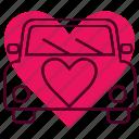 car, love, romance, transportation, truck, wedding icon