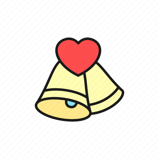 bell, ceremony, crunch, love, marriage, party, wedding icon