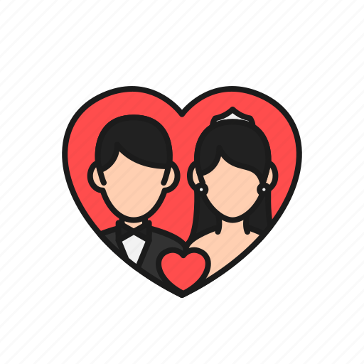 bride, couple, groom, love, marriage, married, wedding icon