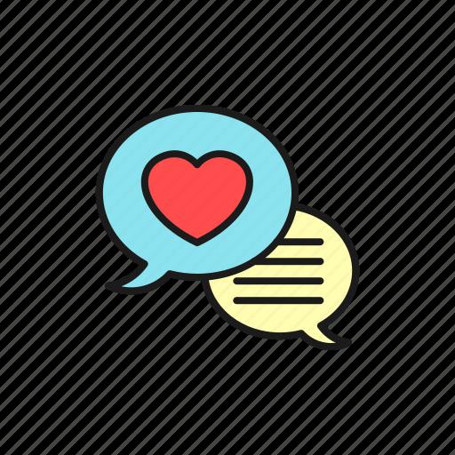 chat, forum, love, marriage, social media, speak, wedding icon