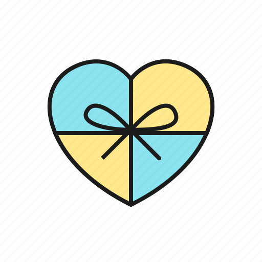 gift, love, marriage, party, present, ribbon, wedding icon
