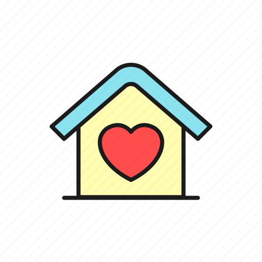 family, home, honeymoon, house, love, marriage, wedding icon