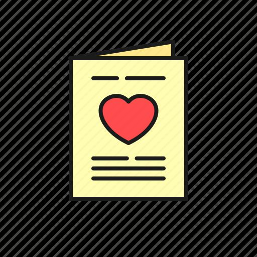 book, invitation, love, marriage, paper, proposal, wedding icon