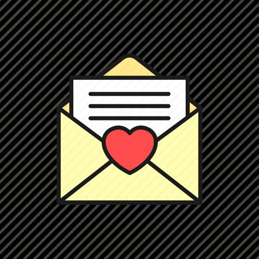 envelope, invitation, letter, love, marriage, wedding icon