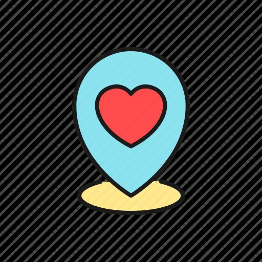 destination, location, love, map, party, pin, wedding icon