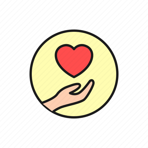 charity, giving, hand, love, marriage, valentine, wedding icon