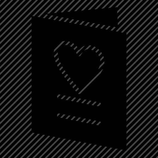 card, heart, love, wedding icon