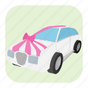 car, card, cartoon, honeymoon, marriage, married, wife icon