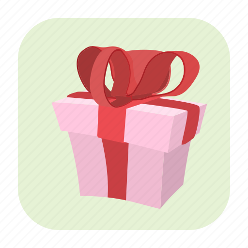 bow, box, cartoon, gift, love, party, wedding icon