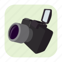 camera, cartoon, digital, equipment, lens, photo, photography icon