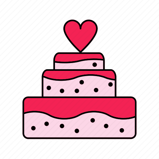 cake, romance, valentine, wedding icon