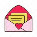 invitation, letter, mail, rsvp icon