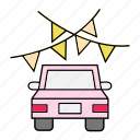 car, celebration, festival, vehicle icon